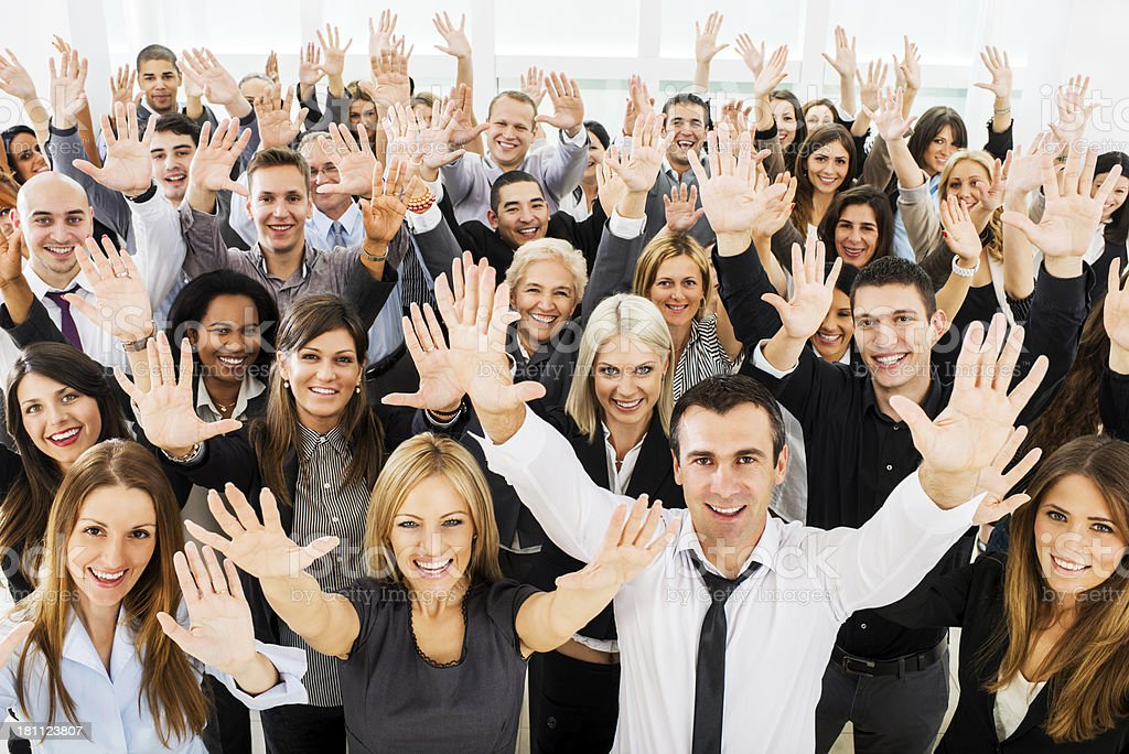 Large group of cheerful business people. royalty-free stock photo