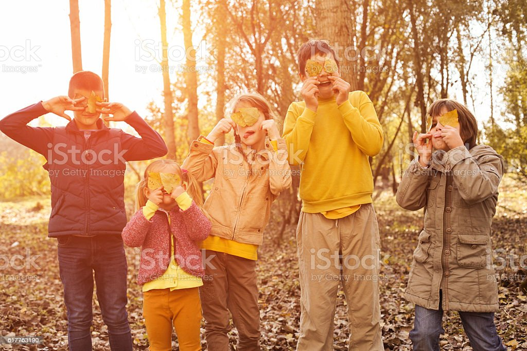 Large group of children. stock photo