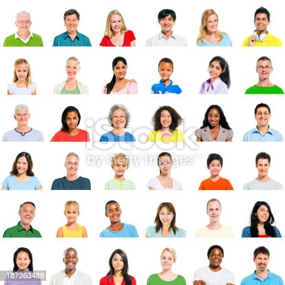 671270528 istock photo Large group of Diverse People 187363489