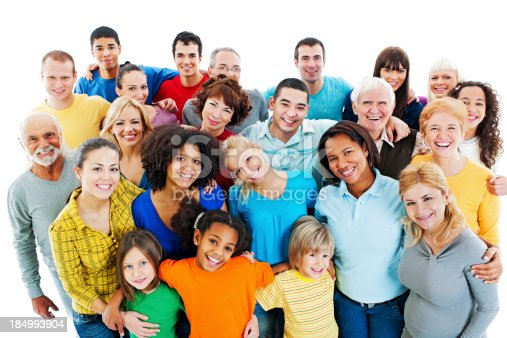 671270528istockphoto Large Group of Happy People standing together. 184993904