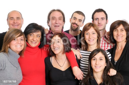 istock Large Group of Happy People,Family or Team,Isolated 183756768
