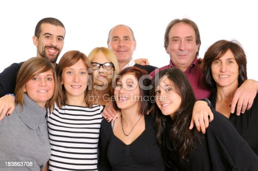 istock Large Group of Happy People,Family or Team,Isolated 183863708
