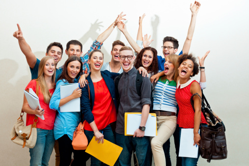 Large Group Of Happy Students Stock Photo - Download Image Now