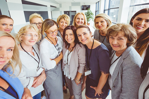 Large Group Of Happy Women On Seminar Stock Photo - Download Image Now