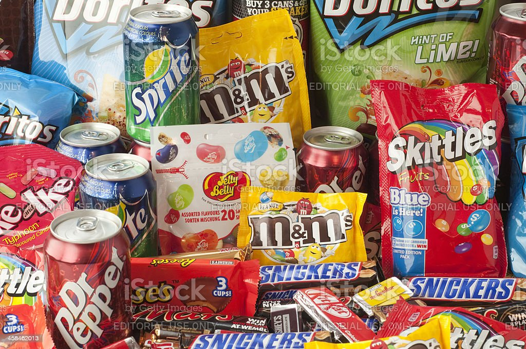 Large group of junk food royalty-free stock photo