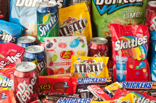 Large Group Of Junk Food 照片檔及更多 Mars - Brand Name 照片