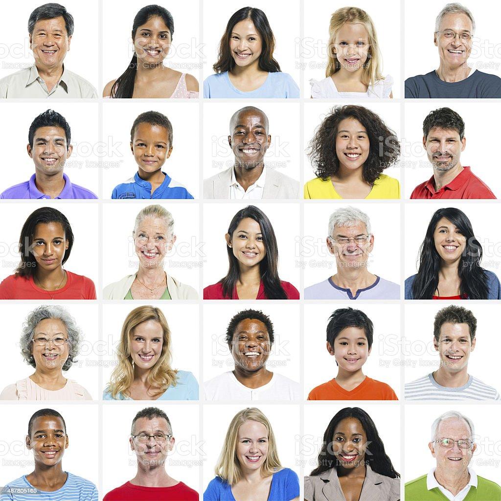 Large group of Multi Ethnic Group stock photo