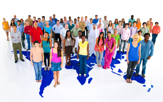 istock Large group of multi-ethnic people from all over the world 168354034