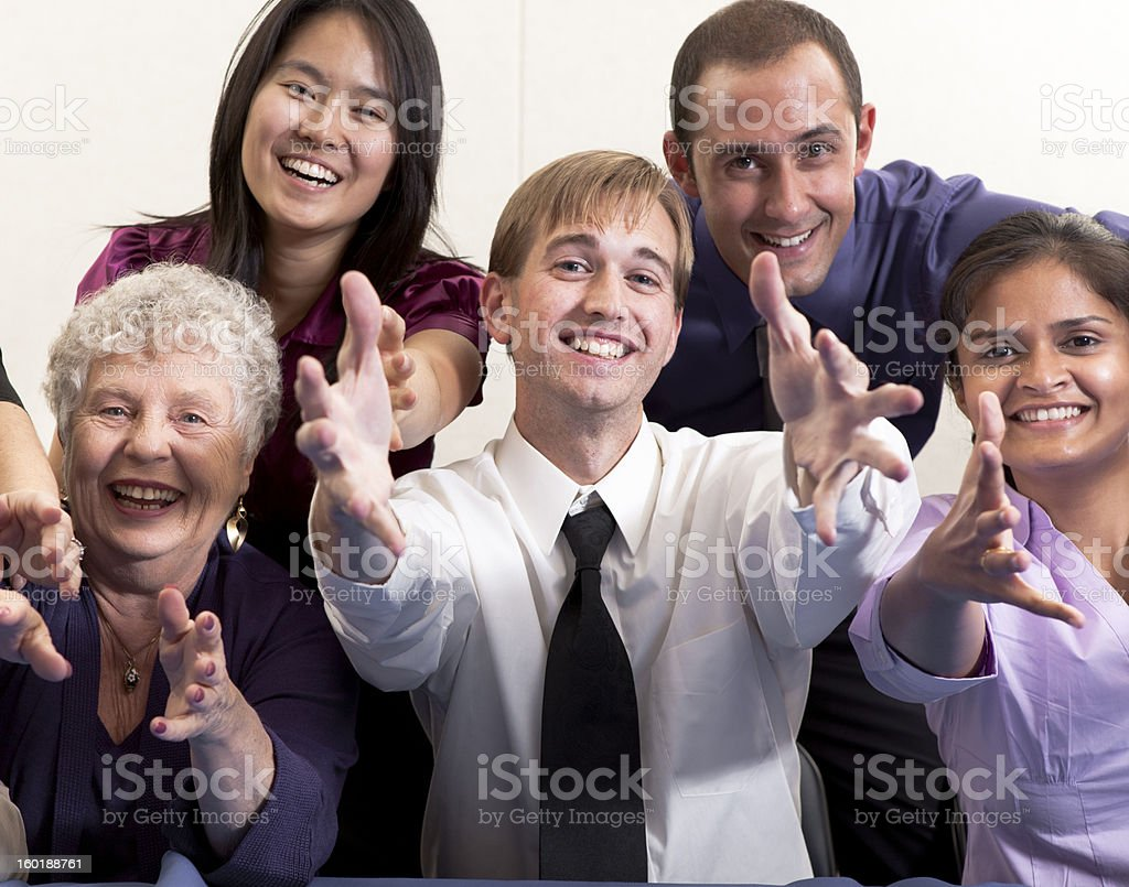 Large group of people royalty-free stock photo
