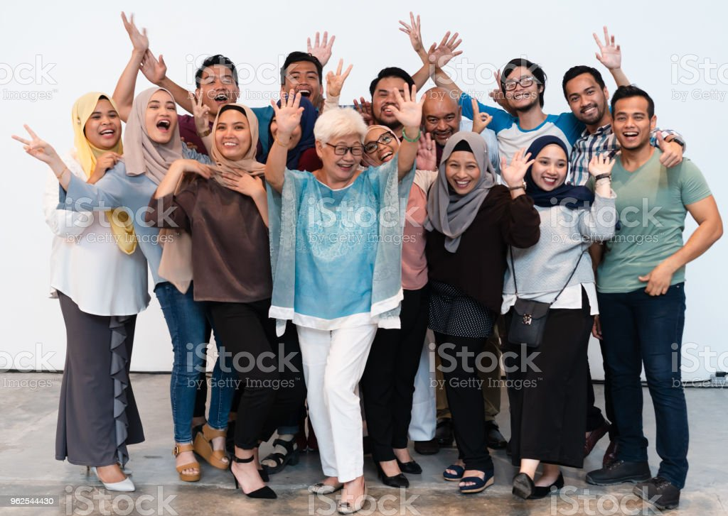 Large group of people with cheerful attitude. - Royalty-free Adult Stock Photo