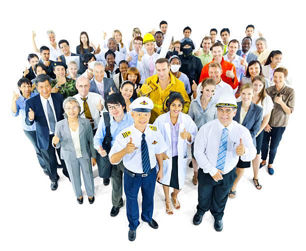 Grand groupe de personnes avec différentes Métier - Photo