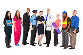 Large Group of Professionals with Different Occupations.See more from this series: