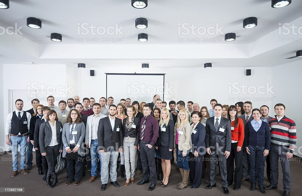Large group of smiling business people. royalty-free stock photo