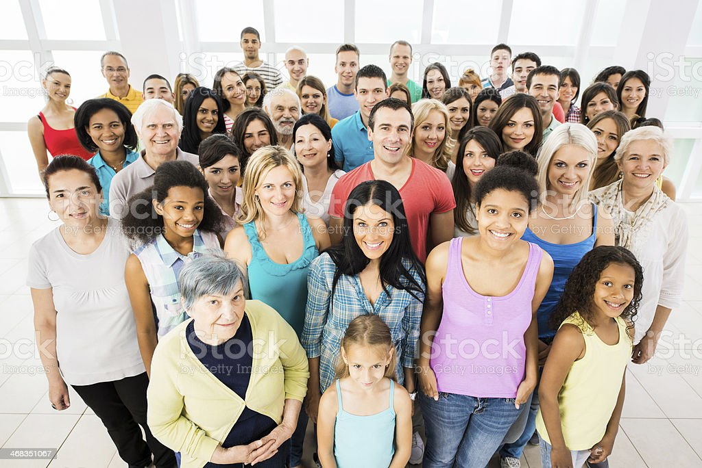 Large group of smiling people. royalty-free stock photo