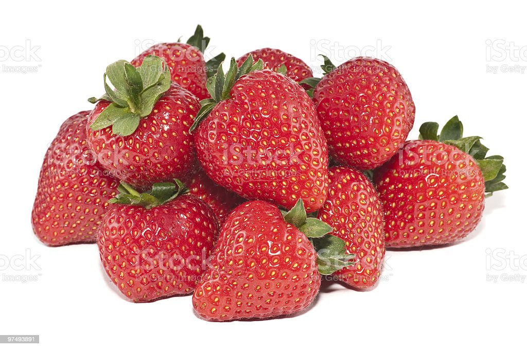 Large group of strawberries royalty-free stock photo