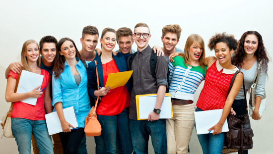 Large Group Of Students Stock Photo - Download Image Now