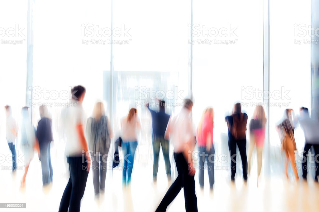 Large Group of Unrecognizable People stock photo