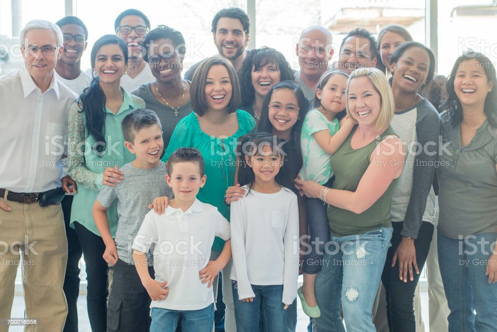 Large Group stock photo