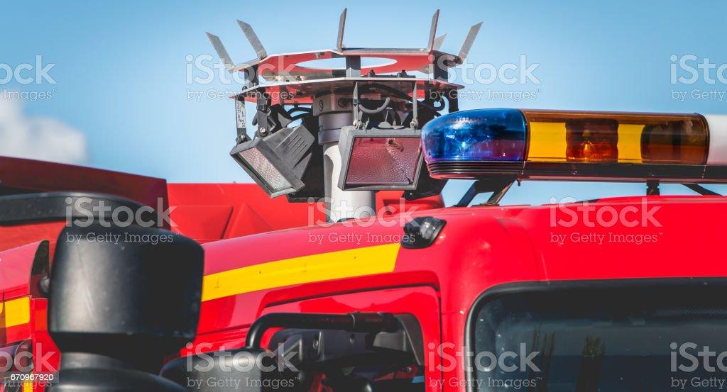 projecteur halogène grande sur une désincarcération de véhicule - Photo