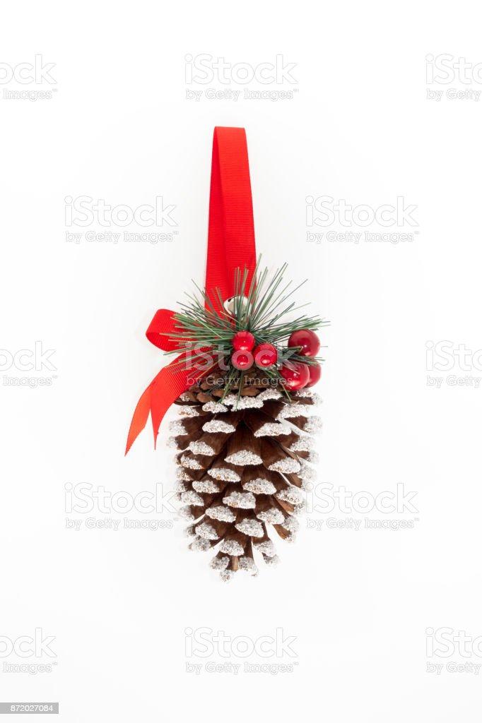 Grosse Hangende Dekoriert Weihnachten Tannenzapfen Stockfoto Und Mehr Bilder Von Advent Istock