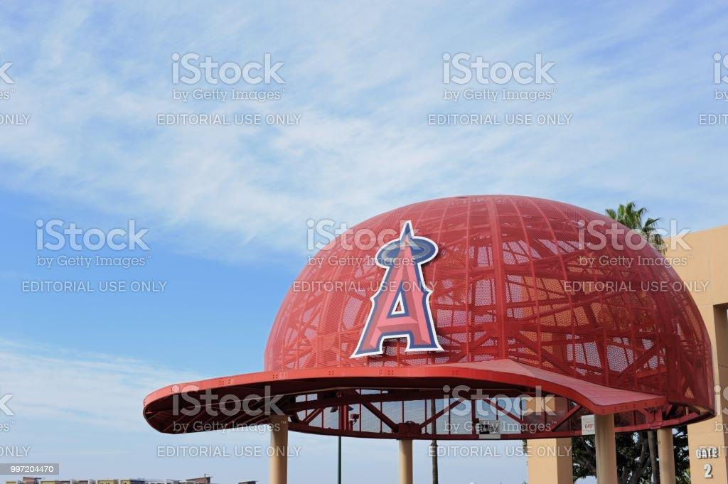 Large hat at Angel Stadium of Anaheim stock photo