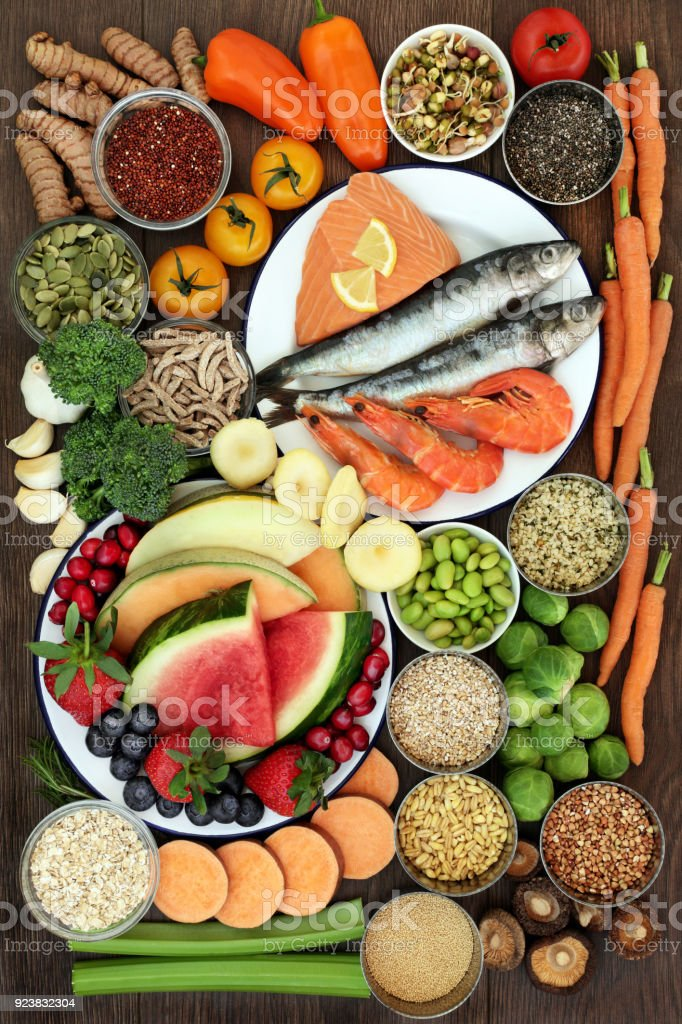 Large Health Food Sampler stock photo