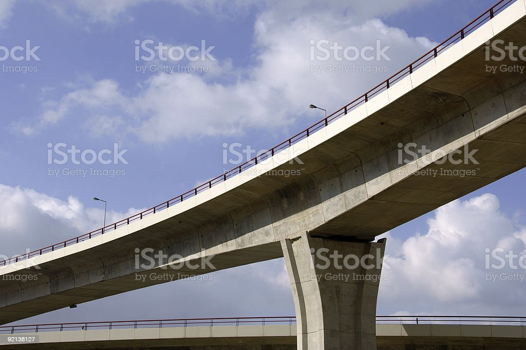 Large highway viaducts royalty-free stock photo