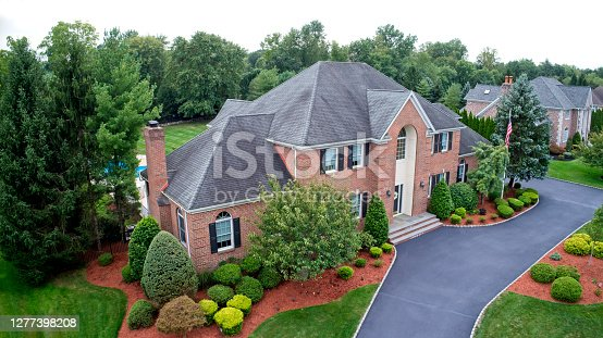 istock Large house aerial late Summer 1277398208