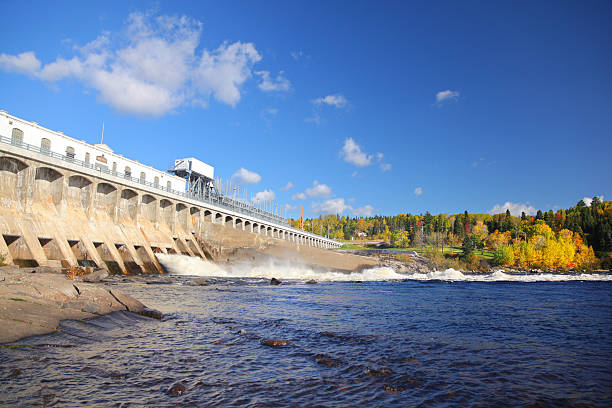 Large Hydro Electricity Dam stock photo