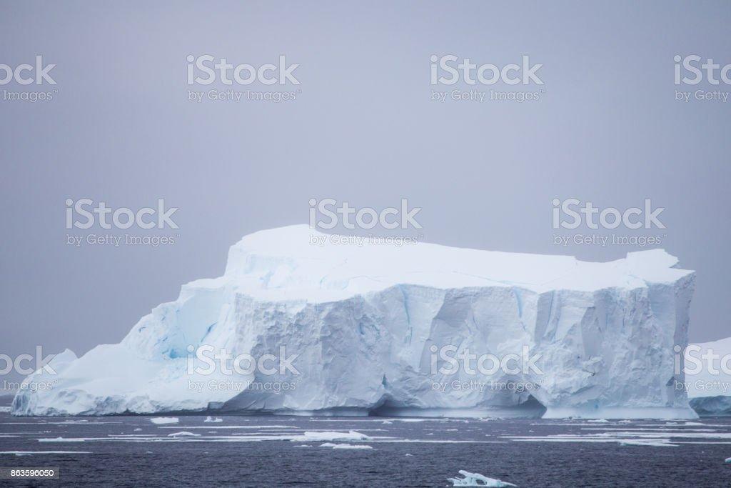 A large iceberg in Antarctica stock photo