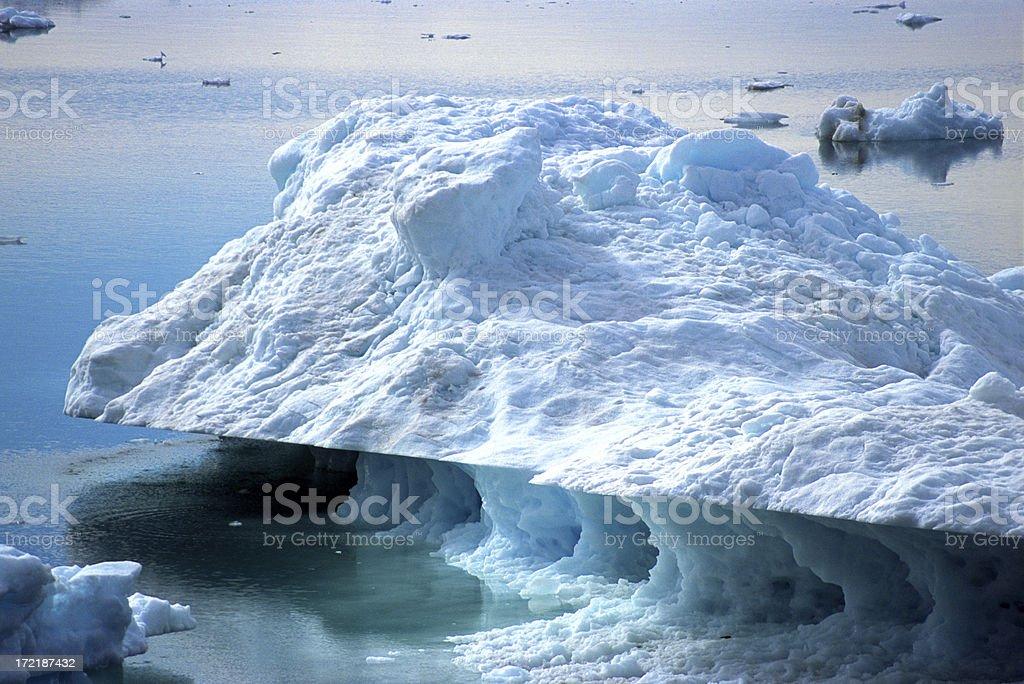 Large iceberg in Sermilik Fjord royalty-free stock photo