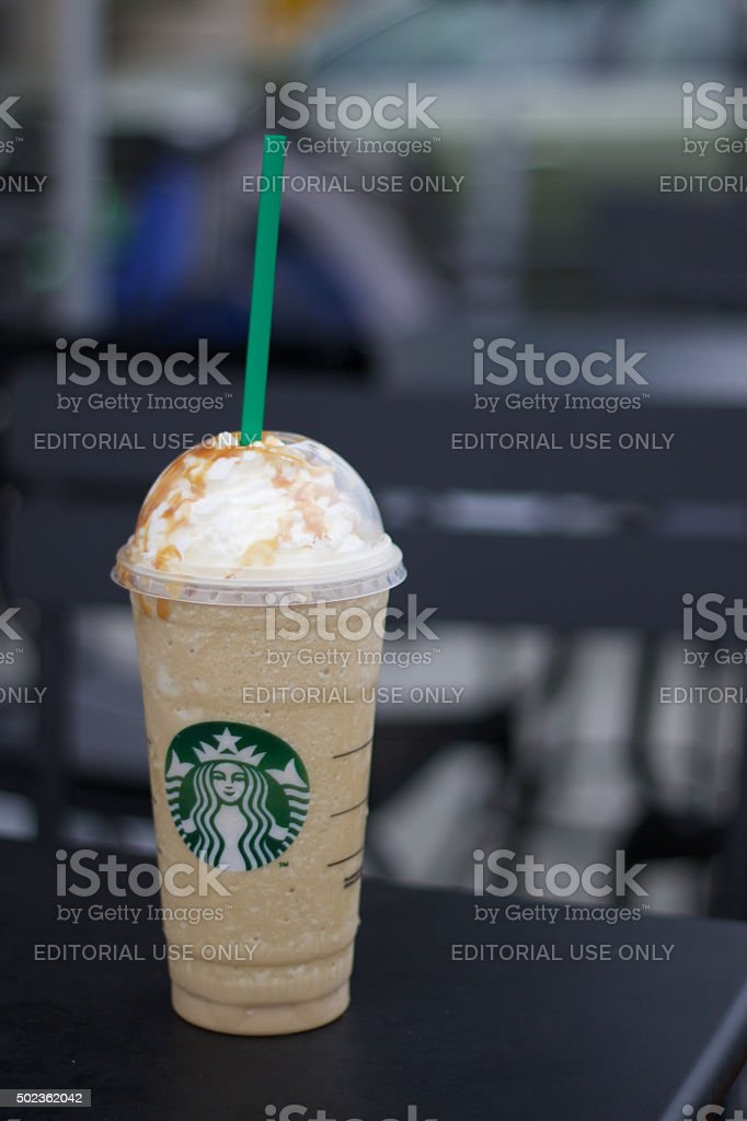 Large Iced Starbucks Drink stock photo