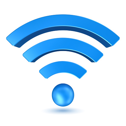 Wifi sign , computer generated image. 3d rendered image.
