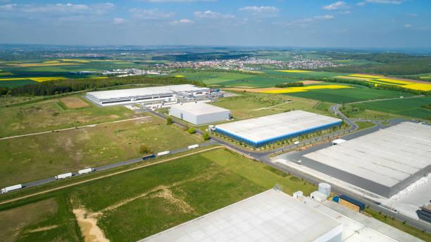 Großes Industriegebiet-Luftaufnahme – Foto