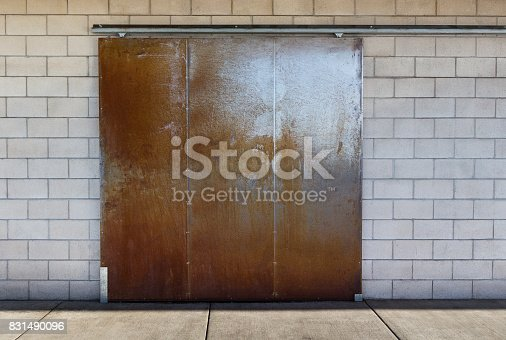 Vintage Large industrial modern steel barn door