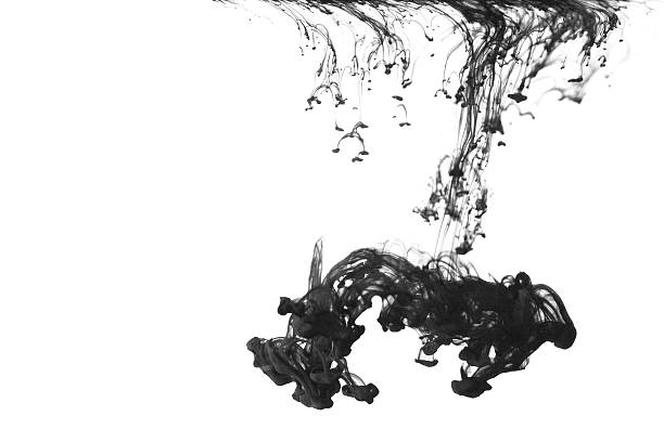 Large Ink Drop stock photo