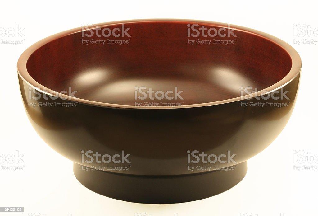 Große Japanische Miso/Salad Bowl Lizenzfreies stock-foto