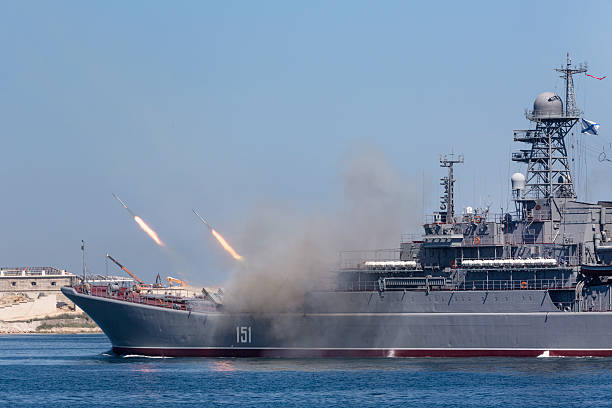 large landing ship Azov stock photo