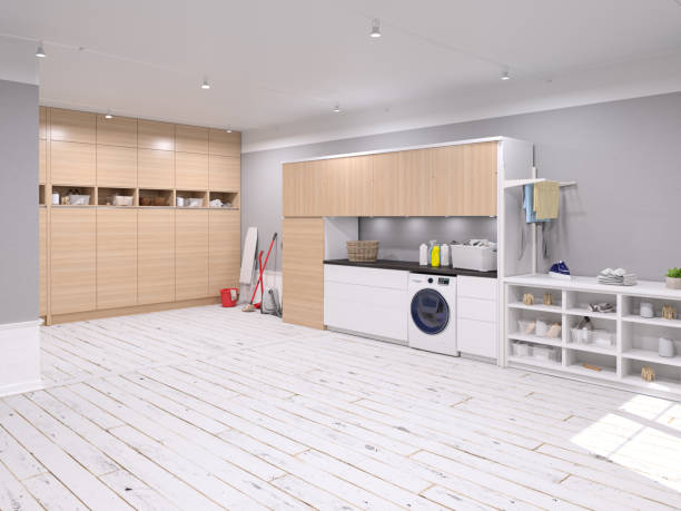 large laundry room - laundry laundry room stock pictures, royalty-free photos & images
