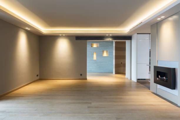 Großes Wohnzimmer im modernen apartment – Foto