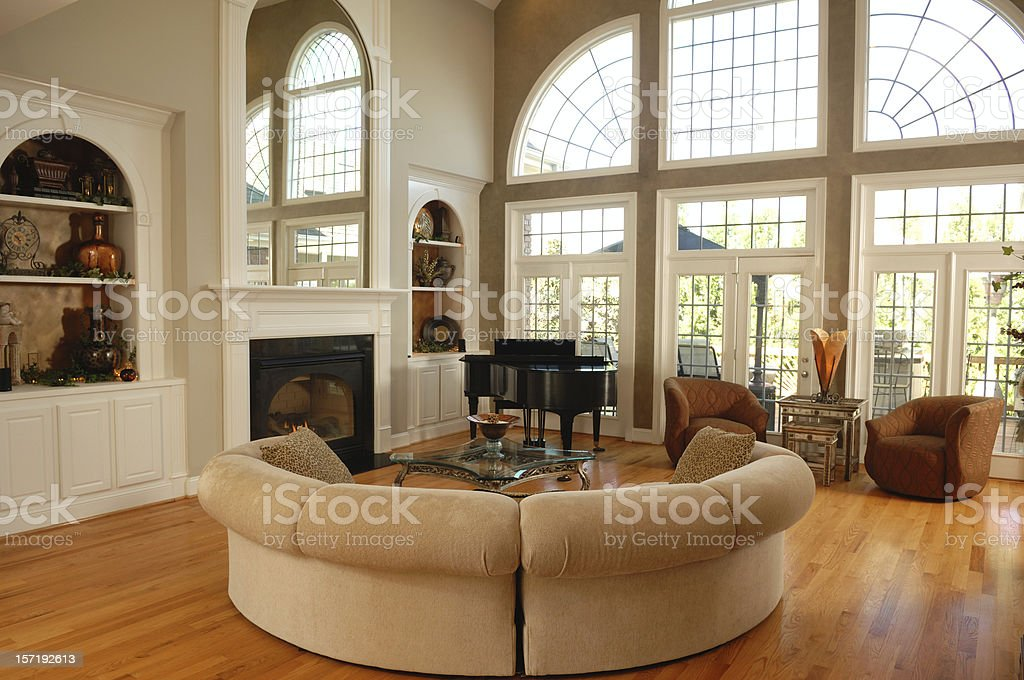 Large Living Room stock photo
