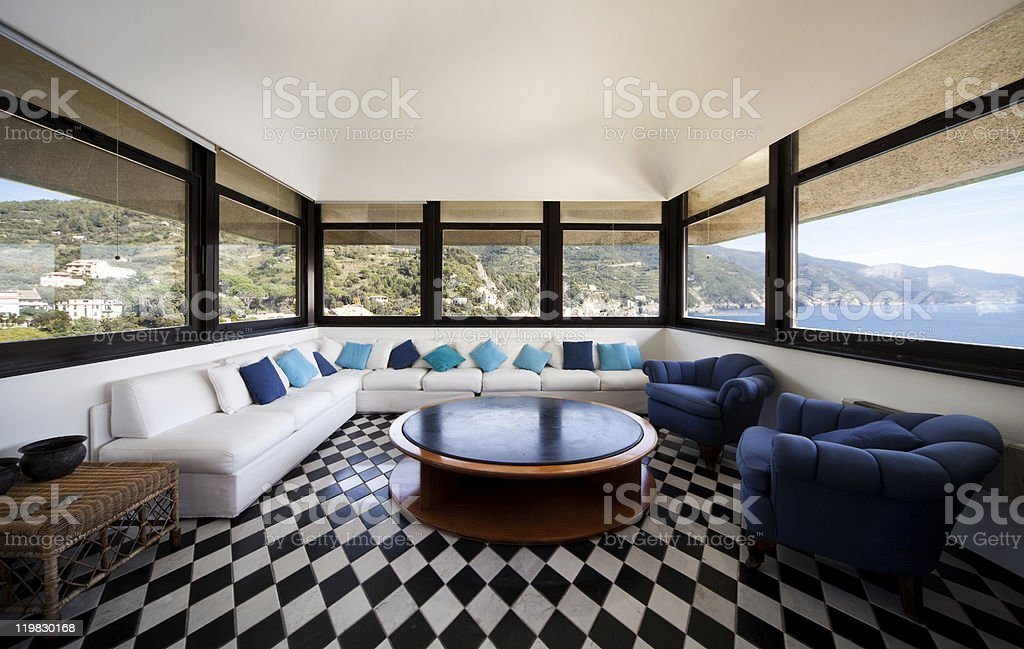 large living-room royalty-free stock photo