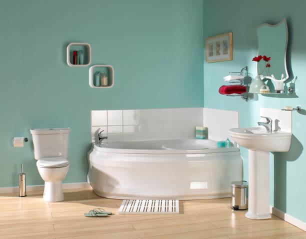 grande banheiro luxuoso - banheiro instalação doméstica - fotografias e filmes do acervo