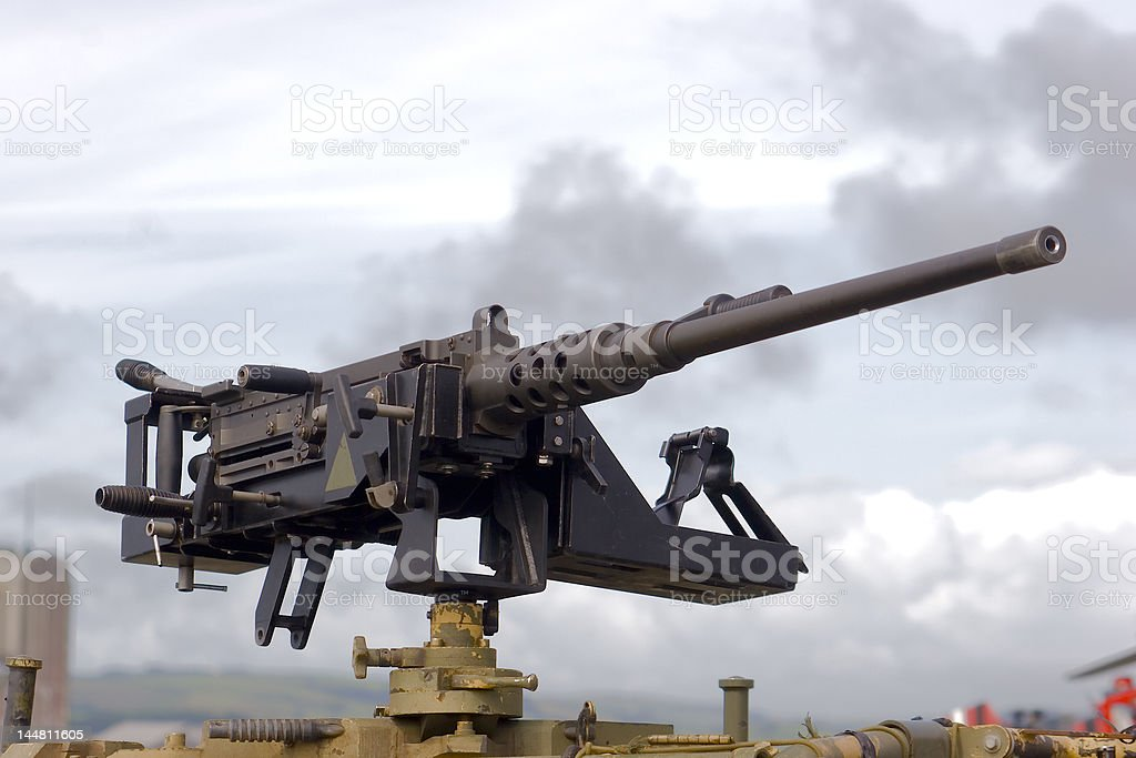 Large Machine Gun stock photo