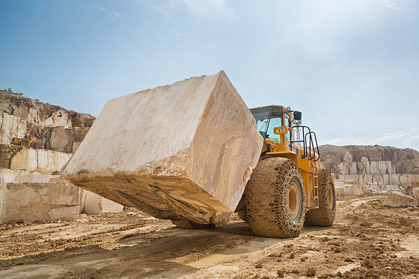 Large Marble Quarry stock photo
