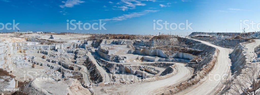 Large marble quarry стоковое фото