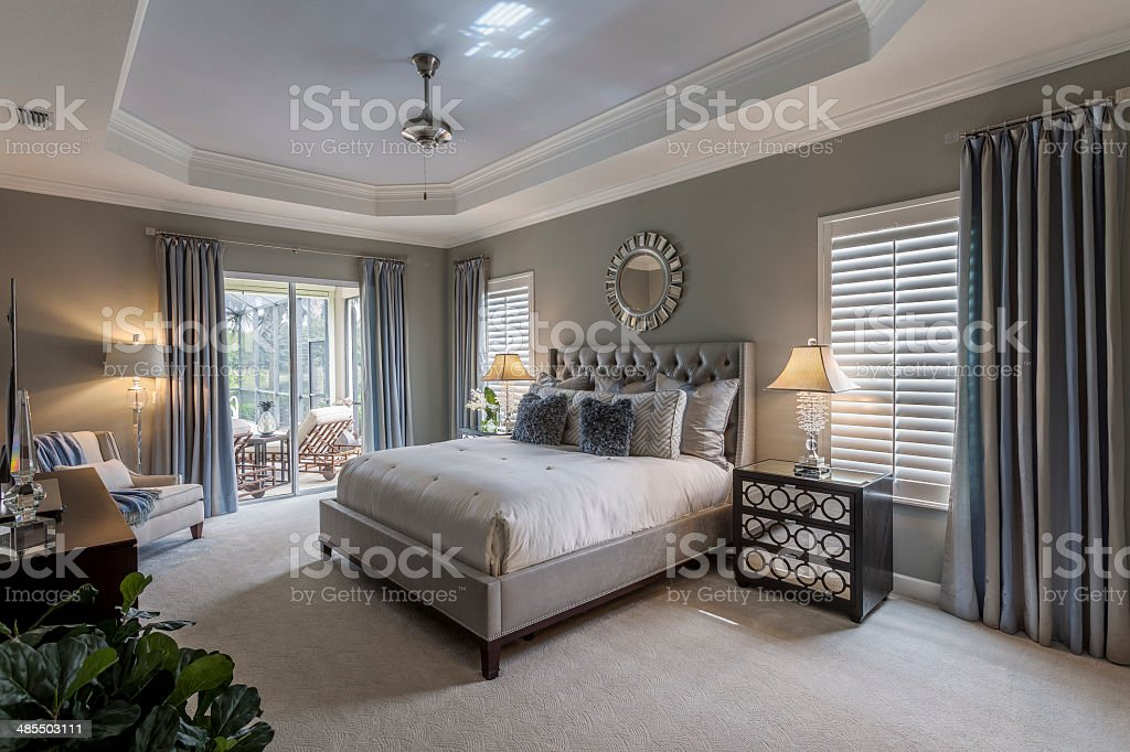 Large master bedroom in southwest Florida home圖像檔
