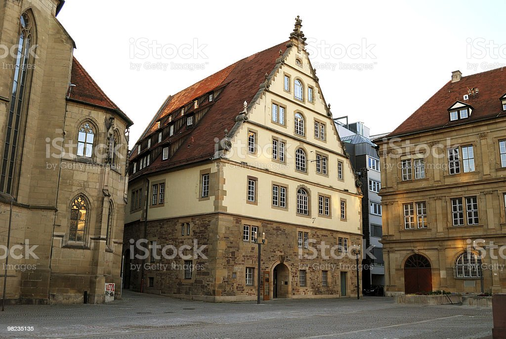 Large medieval house in the center of Stuttgart, Germany stock photo