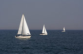 Large boat, medium boat, small boat.