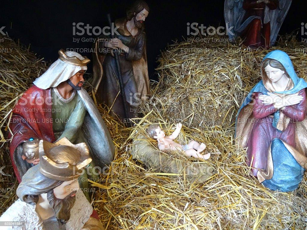 Large Model Christmas Nativity Scene Mary Joseph Baby Jesus Stable ...